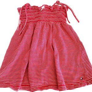 Tommy Hilfiger Red Striped Knit Cotton Sundress